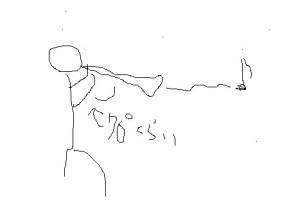 (写真2)良くないベルアップの例。70度程度ではトランペットと見分けがつかない。